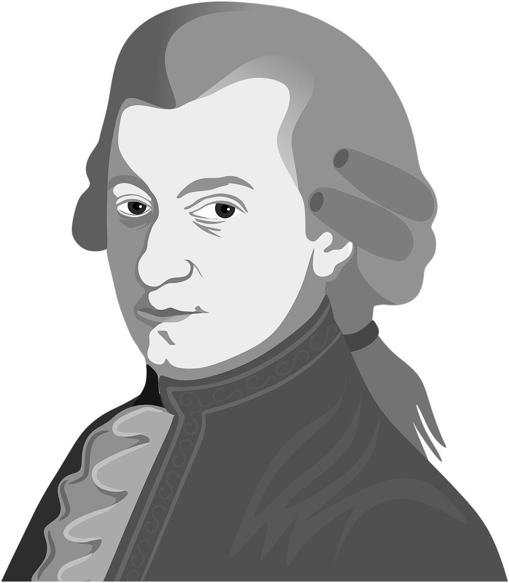 Portrait Mozart, Noir & Blanc