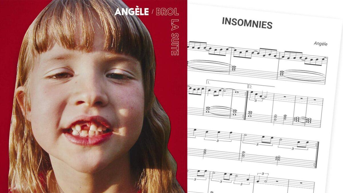 partition piano gratuite insomnies angèle