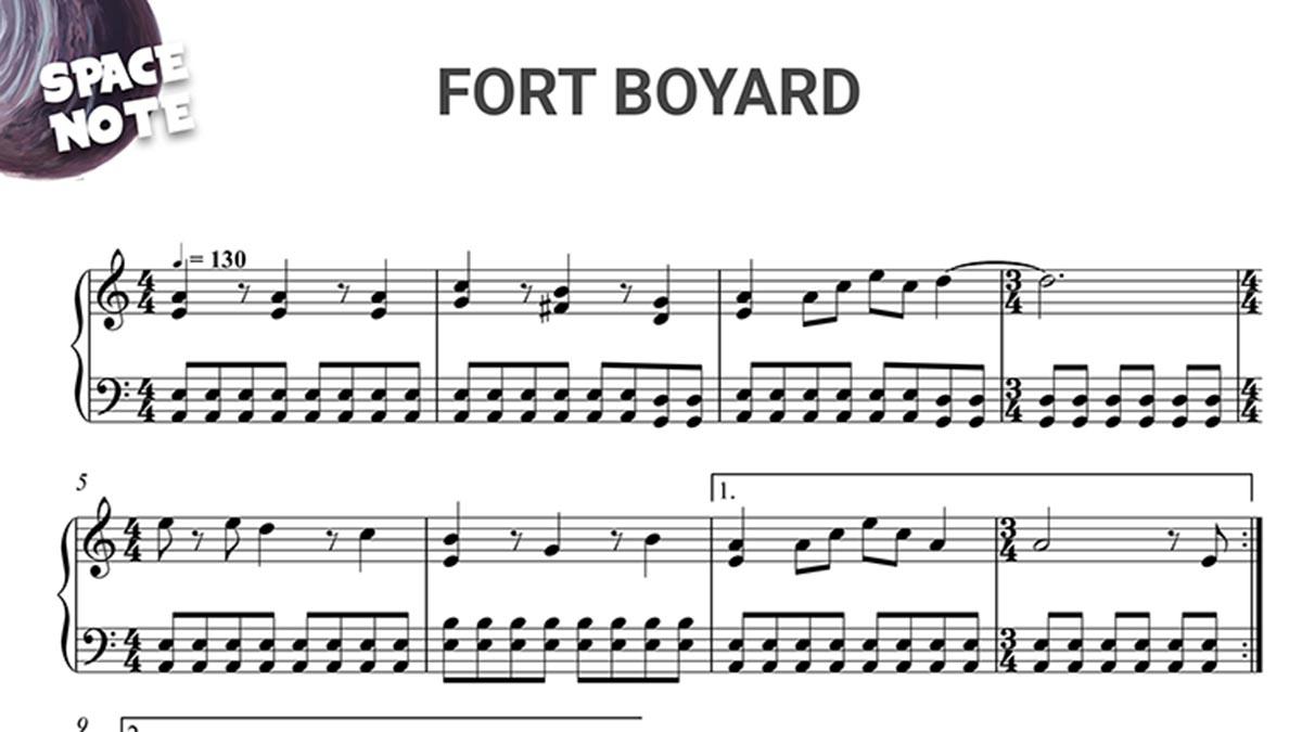 Partition Fort Boyard Piano Gratuite
